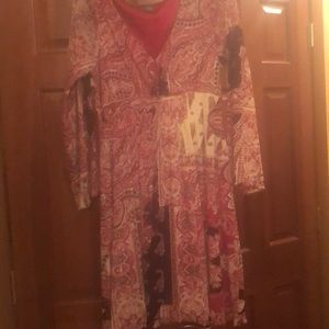 Bell sleeves Dress with lining
